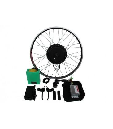 Полный электронабор с мотор-колесом 48v1000w в ободе 20'-28' и литий ионной АКБ 48v15.6Ah