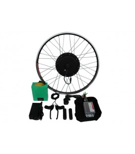 Полный электронабор с мотор-колесом 48v1000w в ободе 20'-28' и литий ионной АКБ 48v13Ah