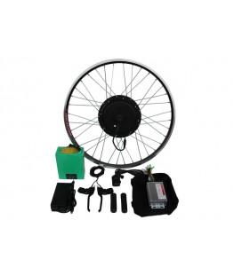 Полный электронабор с мотор-колесом 48v600w в ободе 20'-28' и литий ионной АКБ 48v10.4Ah