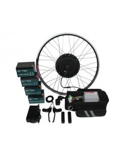 Полный электронабор с мотор-колесом 48v1000w в ободе 20'-28' и аккумуляторами 48v14Ah