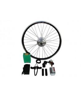Полный электронабор с мотор-колесом 48v350w «турбо» в ободе 26' - 28' и литий ионной АКБ LG 48v6.4Ah