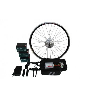 Полный электронабор с мотор-колесом 36v350w в ободе 16'-28' и аккумуляторами 36v14Ah