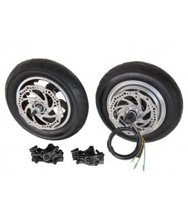 Электронабор: заднее мотор-колесо Volta 48v500w в литом ободе 10' и переднее колесо 10'