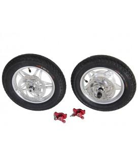 Электронабор: заднее мотор-колесо Volta 36v350w в литом ободе 12 и переднее колесо 12