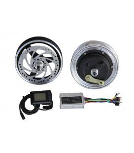 Электронабор: заднее мотор-колесо Volta 36v350w в литом ободе 10', переднее колесо 10', контроллер и LCD дисплей